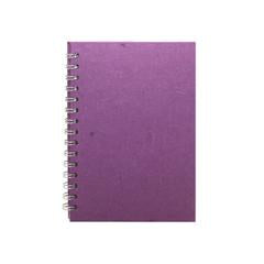 "Pink Pig ""Posh Pig"" Spiral Bound A5 Portrait Cartridge Pad - Purple/35sheets"