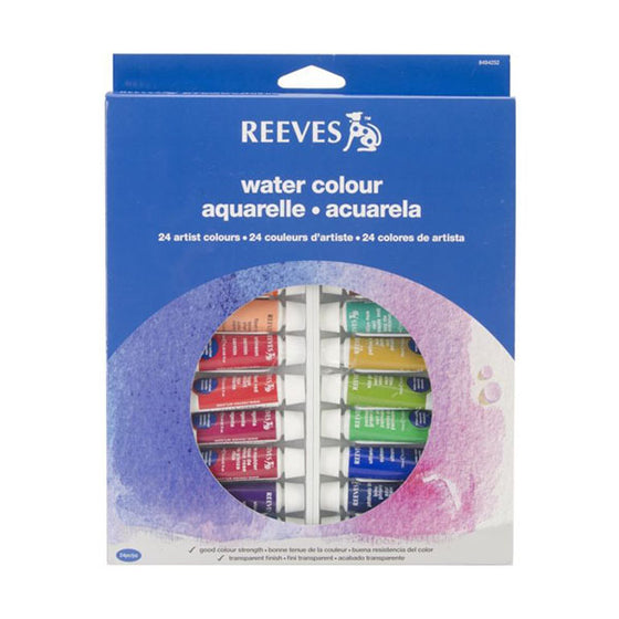 Reeves Watercolour Set 24x10ml Tubes