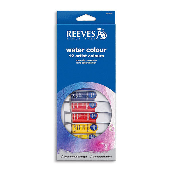 Reeves Watercolour Set 12x10ml Tubes