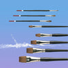 Pro Arte Series 99 Connoisseur Flat One Stroke Sable/Synthetic Brushes - Various Sizes - Spectrum Art Shop Birmingham