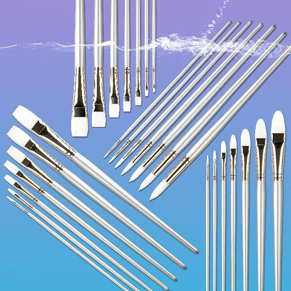 Pro Arte Series 201 Sterling Acrylix Short Flat Brushes - Various Sizes - Spectrum Art Shop Birmingham