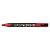 Posca PC-3M Marker, 0.9-1.3mm Bullet Tip-Red - Spectrum Art Shop Birmingham