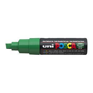 Posca PC-8K Marker 8.0mm Chisel Tip-Green - Spectrum Art Shop Birmingham