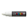 Posca PC-8K Marker 8.0mm Chisel Tip-White - Spectrum Art Shop Birmingham