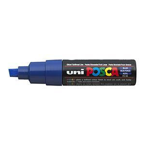 Posca PC-8K Marker 8.0mm Chisel Tip-Blue - Spectrum Art Shop Birmingham