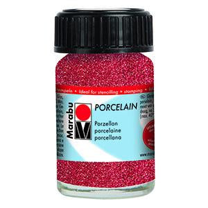 Porcelain Ceramic Paint Effekte 15ml, Glitter Red - Spectrum Art Shop Birmingham