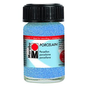 Porcelain Ceramic Paint Effekte 15ml, Glitter Blue - Spectrum Art Shop Birmingham