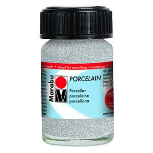 Porcelain Ceramic Paint Effekte 15ml, Glitter Silver - Spectrum Art Shop Birmingham