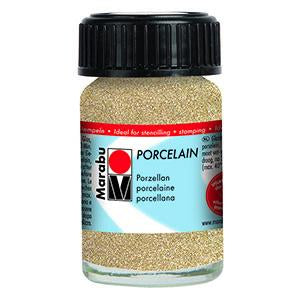 Porcelain Ceramic Paint Effekte 15ml, Glitter Gold - Spectrum Art Shop Birmingham