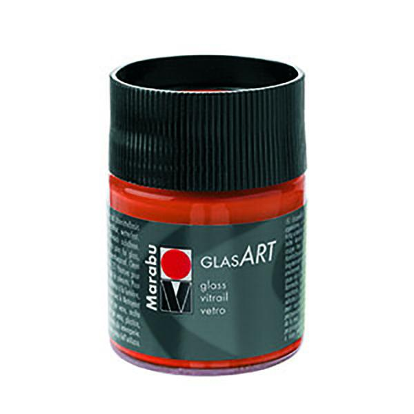 Marabu Glasart 50ml, Yellow Orange - Spectrum Art Shop Birmingham