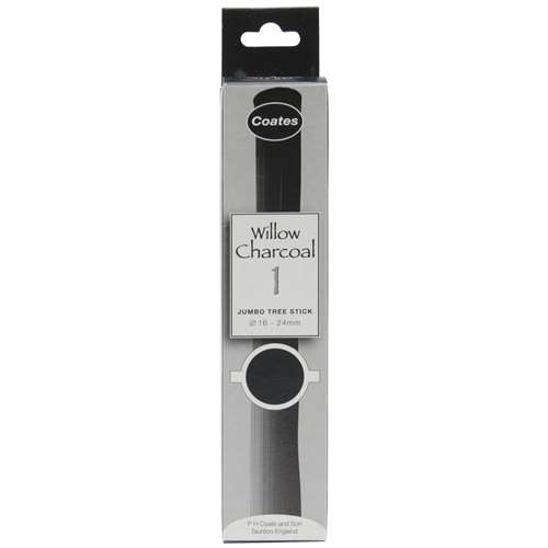 Coates Willow Charcoal - Jumbo Stick 16-24mm Box of 1 - Spectrum Art Shop Birmingham