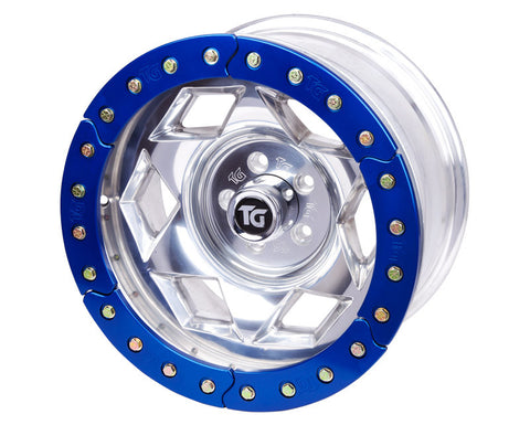 "17"" Aluminum Beadloclk Wheel, (6 on 5.5"" w 3.75"" BS), Orange Segmented Ring"