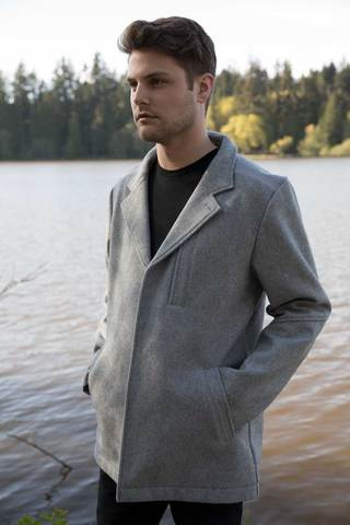 One Man Bentall Waterproof Wool Coat