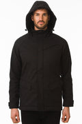 One Man Outerwear Black Waterproof Commuter Cycling Jacket with hood
