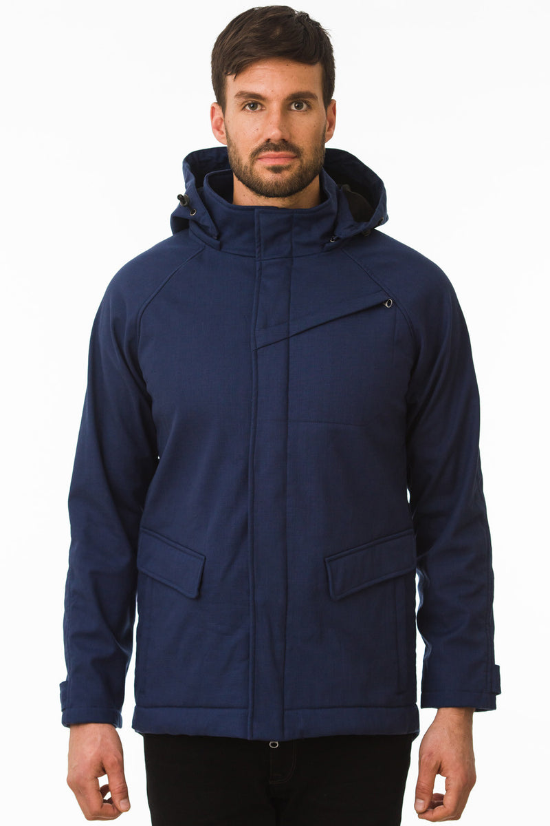 One Man Outerwear Navy Waterproof Commuter Cycling Jacket