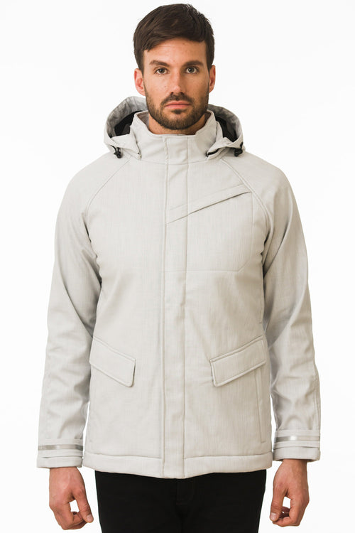 One Man Outerwear Light Grey Waterproof Commuter Cycling Jacket
