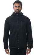 One Man Outerwear Black Waterproof Commuter Cycling Hoodie