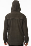 Back of One Man Outerwear Grey Waterproof Commuter Cycling Hoodie