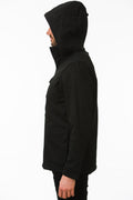 Side of One Man Outerwear black waterproof field jacket