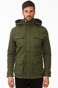 One Man Outerwear olive green waterproof field jacket
