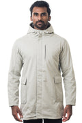 One Man Outerwear modern tan waterproof jacket
