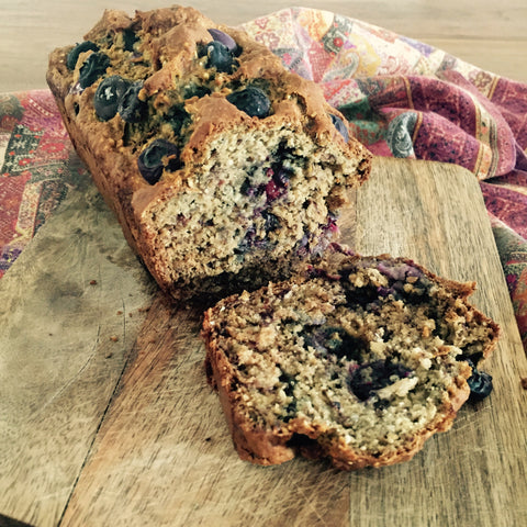 Banana blueberry bread. Enso London