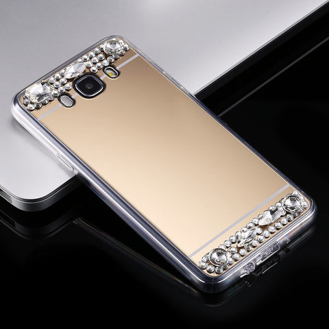 Luxury Diamond Mirror Case For Samsung - 123dealss