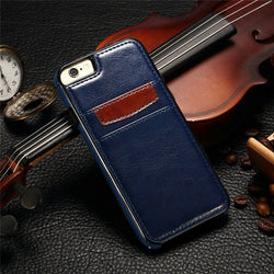 SLIM LEATHER WALLET CARD PHONE CASE - 123dealss