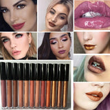 ELEGANT 12 SHADES LONG LASTING WATERPROOF LIQUID MATTE PENCIL LIP GLOSS MAKEUP SET
