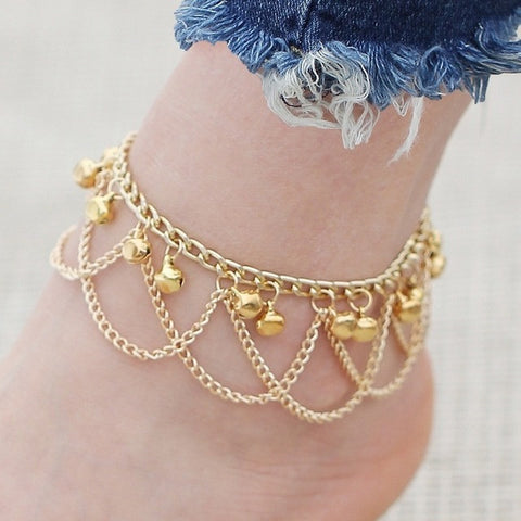 Gold Tassel Anklet For Women