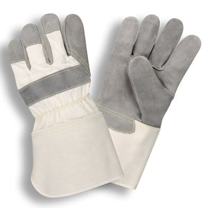 Gray Side Split Rubberized Gaunlet Gloves
