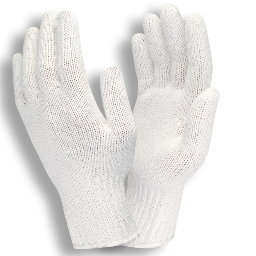 Bleached White 100% Polyester Gloves