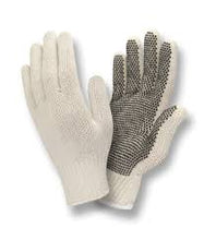 Load image into Gallery viewer, One-Side PVC Dots Natural Gloves