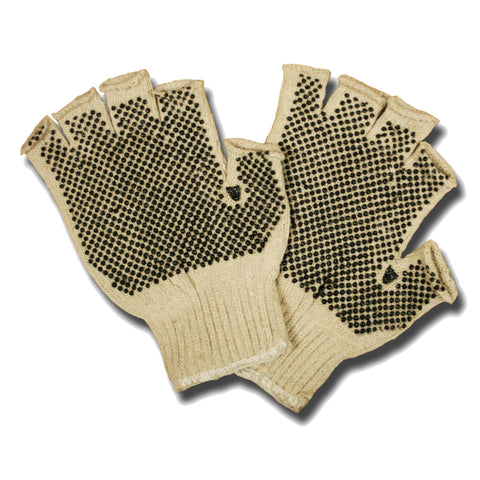 Two-Side PVC Dots Fingerless Gloves