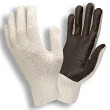Load image into Gallery viewer, Solid Dark Brown PVC Palm Gloves