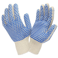Load image into Gallery viewer, Two Side Blue PVC Block Pattern Gloves