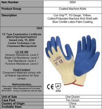 Load image into Gallery viewer, Blue Latex Palm Coated Machine Knit Gloves