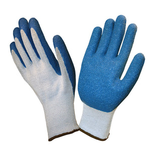 Crinkle Latex Gray & Blue Gloves