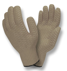 Criss-Cross PVC Gray Gloves