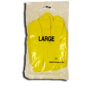 Economy Yellow Flocked Latex Gloves