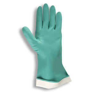 Premium Nitrile Green Flocked Gloves