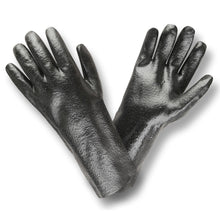 Load image into Gallery viewer, Rough PVC 14-IN Black Gloves