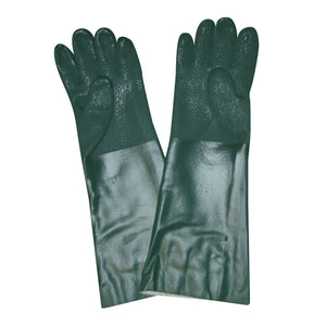 Etched PVC 18-IN Green Gloves