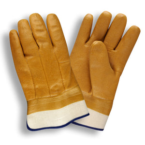 Foam Lined Tan Safety Cuff Gloves