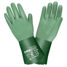 Load image into Gallery viewer, Chem-Cor Premium Supported Green Neoprene Gloves
