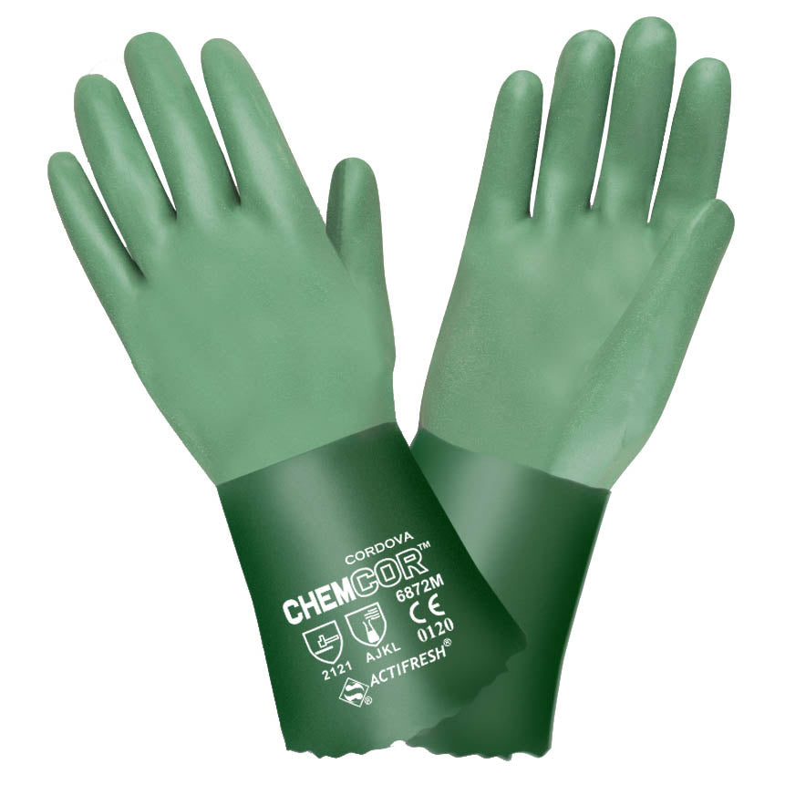 Chem-Cor Premium Supported Green Neoprene Gloves