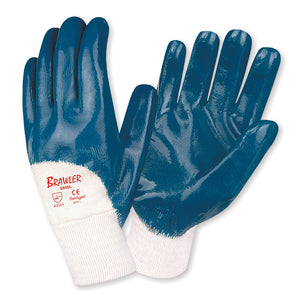 Brawler Premium Supported Nitrile Smooth Finish Gloves