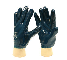 Load image into Gallery viewer, Brawler Premium Fully Coated Dark Blue Gloves