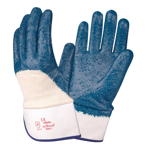 Brawler Premium Nitrile Rough/Safety Cuff Gloves