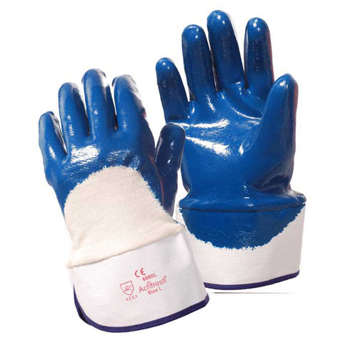 Brawler Premium Safety Cuff Nitrile Gloves